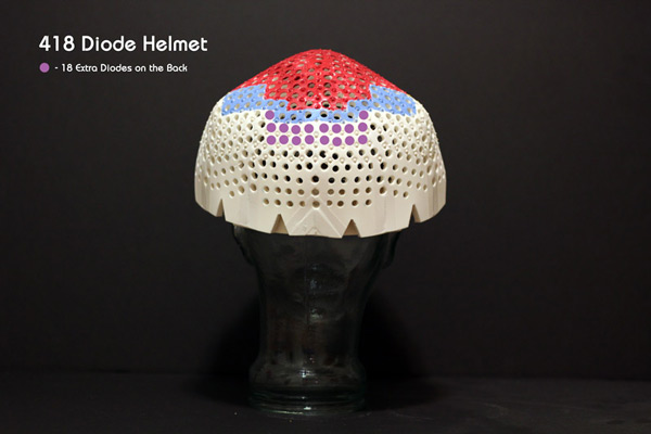 418 diode helmet --the extra rear coverage of the 334, plus the yellow and blue sections!