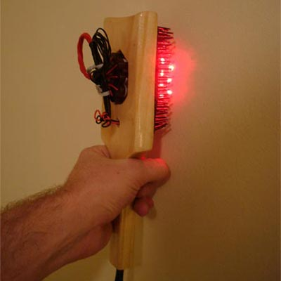 Build your own laser brush or comb instructions.