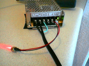 One diode hooked up to a TRC power supply
