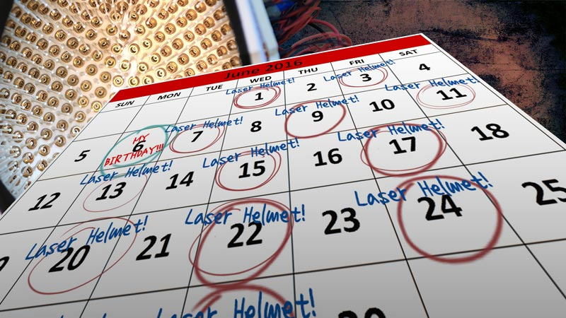 Calendar of Laser Therapy Usage -frequency of LLLT usage for fighting hair loss!